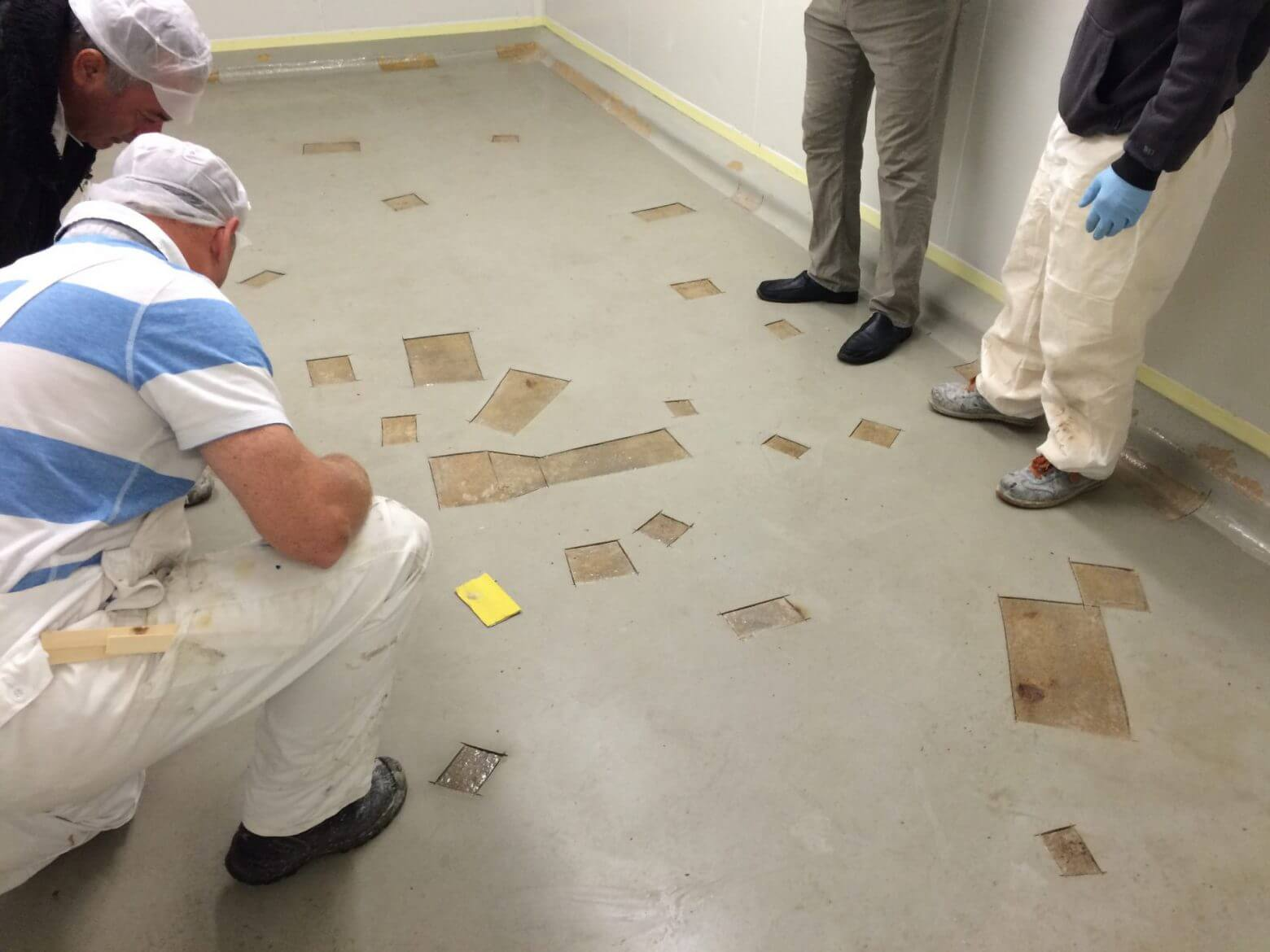 Floor coating repair with PUROC QF-EPT