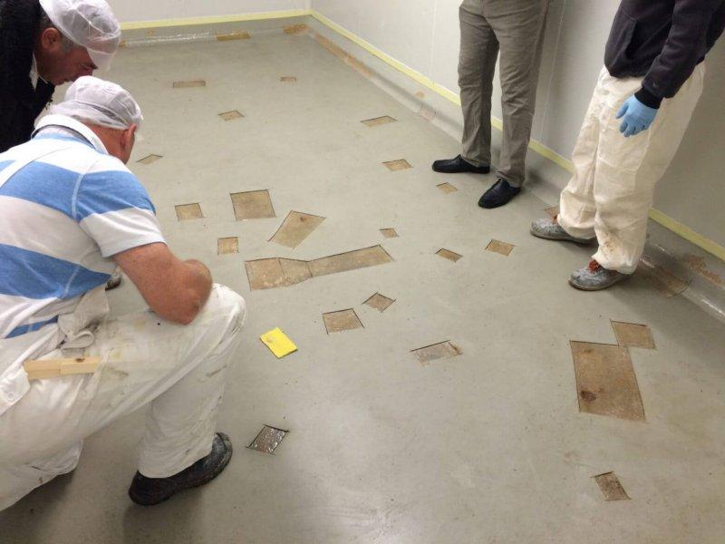Floor coating repair with PUROC QF-EPT
