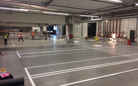 Wear-resistant warehouse lines